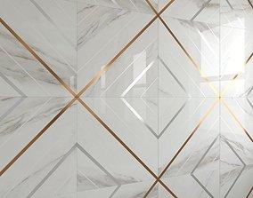 3D asset BELLA LUX Calacatta tiles