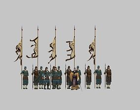 3D animated Ancient soldiers