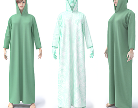 3D CHARACTER WITH ARABIAN CLOTH rigged