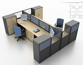 work stantion office interior-2 3D asset