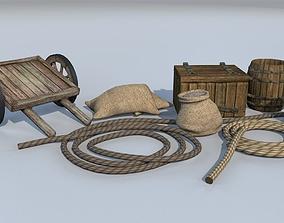 Medieval goods set 2 3D