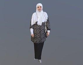No146 - Hijab Woman 3D model