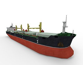 Bulk carrier ship 3D asset