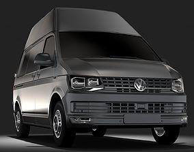 3D model Volkswagen Transporter Van L1H3 T6 2017