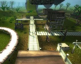 3D model Cartoon Platformer Landscape