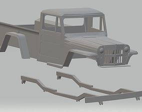 Jeep Willys Printable Body Truck