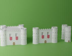Castle Tower Wall Pack 3D asset