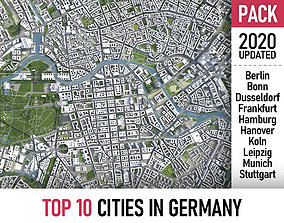 Top 10 Cities in Germany 3D