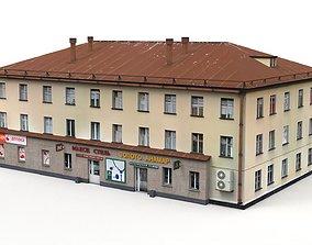 3D asset Three Storey House