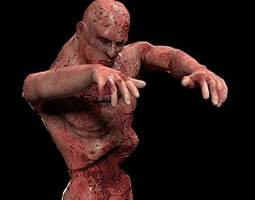 Walking Zombie Rigged Animated Game-Ready 3D animated 1