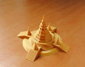 Pagoda 3D print model meditation