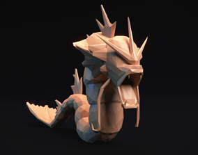 Gyarados - Stylized Pokemon LowPoly Art 3D printable model