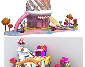 3D Collection of Candy Houses