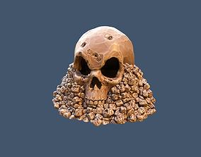 Skull on Rocks 3D print model