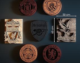 3D model Logo of English football teams