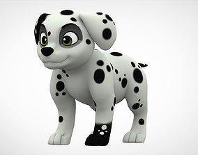 Dalmatian Puppy 3D asset