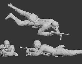 German soldier 3D print model military
