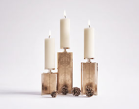 3D model Axis Candle Holder Set