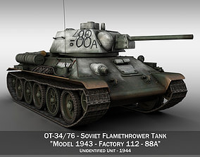 3D OT-34-76 - Soviet Flamethrower Tank - 88A