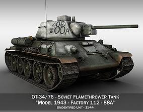 3D OT-34-76 - Soviet Flamethrower Tank - 88A
