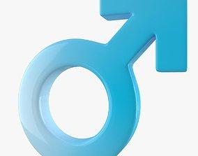 3D model Male Gender Symbol