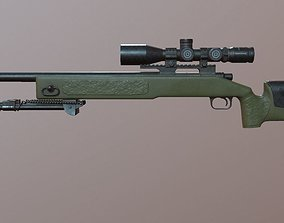 3D model M40 A3 - Game Ready - Sniper Rifle