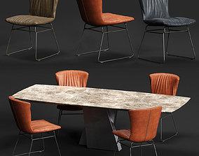 3D model DRAENERT DEXTER Chair and ADLER Table