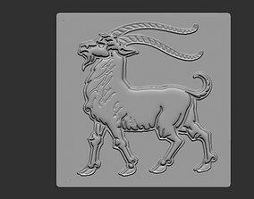 Bas relief goat 3D print model