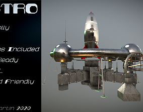 3D asset Retro Sci-Fi Moonbase