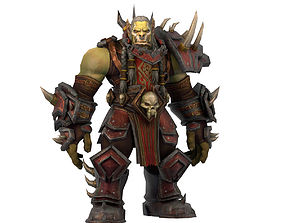 Warcraft Saurfang Animated and Rigged 3D model game-ready