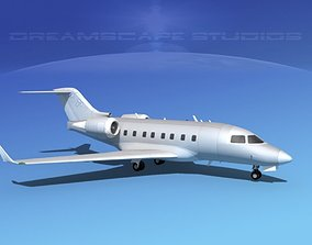 Bombardier Challenger CL-605 Bare Metal 3D model