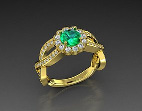 3D print model Diamond Jewelry Women Ring Emerald Cut