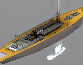 Luxury Sailboat 3D Model