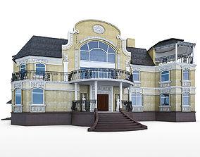 Luxury Mansion 3D asset