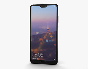 3D model Huawei P20 Black