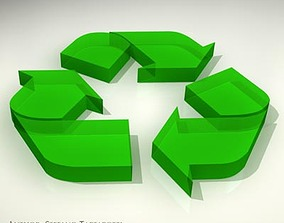 Recycling logo 3D