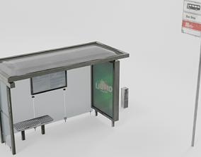Bus stop 3D asset VR / AR ready transit