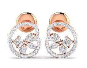 Women earrings 3dm stl render detail precious