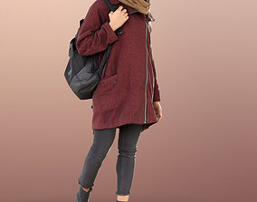 3D model 10883 Diana - Woman In Coat And Scarf Walking 1