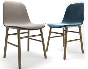 Form Dining Chair Fully Upholstered 3D model