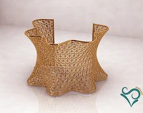 Golden Bracelets ready for direct printing 3d Jewel