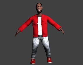 Bearded guy 3D model