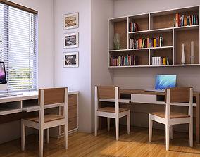 Study room 3D model reading-room