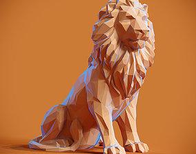 3D printable model Low poly Lion