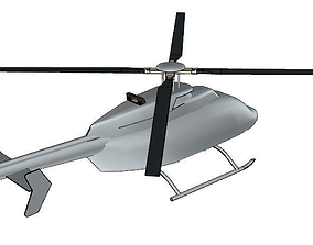 Bell 407 helicopter 3D asset