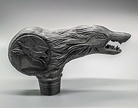 3D print model Wolfman Cane Top Replica