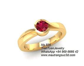 839 Diamond Ring 3D printable model