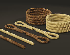 3D Set of Mooring Ropes for Watercraft