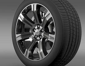 3D model RangeRover Autobiography black wheel