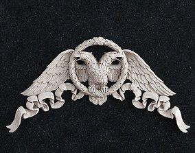 Eagle bird corner 3D print model cnc